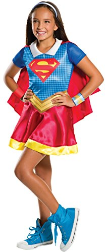 Poison Ivy Fancy Dress Costumes (Rubie's Costume Kids DC Superhero Girls Supergirl Costume, Small)