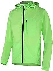 Waterproof Women's Cycling Jacket Lightweight Windbreaker Windproof Reflective Bike Raincoat with Ho