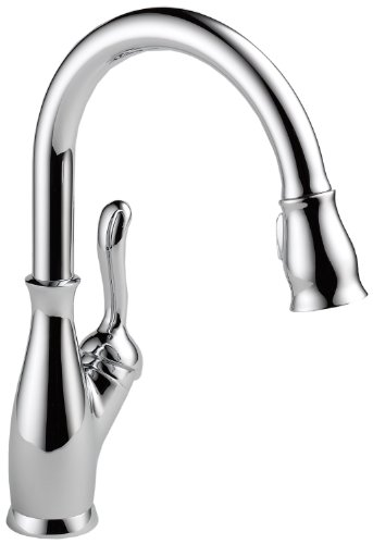 Delta 9178-AR-DST Leland Single-Handle Pull-Down Kitchen Faucet with Magnetic Docking Spray Head and Shield Spray Technology, Arctic Stainless