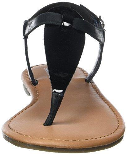 Tommy Hilfiger S1385usy 1c2, Sandalias con Cuña para Mujer Negro (Black 990)