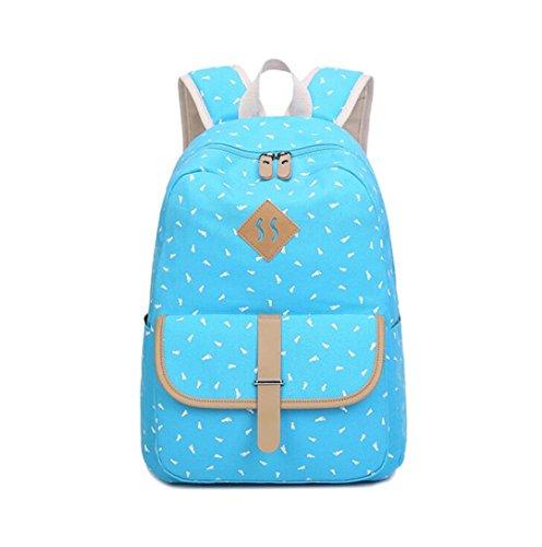 SHUB Cute Feet Girls School Bags For Teenagers Schoolbag Backpack Women Canvas Travel Printing Laptop Rucksack Bagpack sky blue