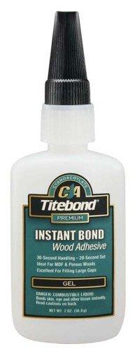 Titebond Instant Bond Wood Adhesive Gel Bottle 2 Oz