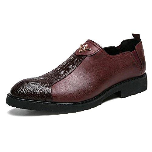Hombres Ons Four Negro 2018 Zapatos tamaño Zapatos Rojo Informales para Slip Formales Seasons y Mocasines Hombres Vestir para 44 de Color Comfort Zapatos FEEqIST