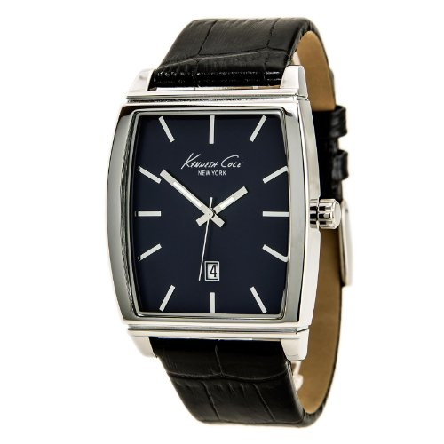 Kenneth Cole New York Three-Hand Leather - Black Men's watch #KCW1027