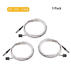 FYSETC 3D Thermistor with Wiring Female 2 Pin Head for Reprap Prusa i3 3D Printer Heatbed Hot End by Fuyuansheng