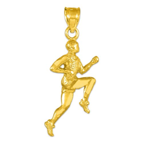 14k Gold Runner Pendant by Sports Charms