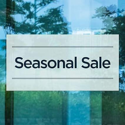 Basic Teal Window Cling CGSignLab Seasonal Sale 24x12 5-Pack