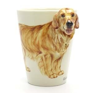 Golden Retriever Dog Lover Mug 00002 Ceramic 3D Cup Handmade Dog Lover Gifts Original Handcrafted Coffee Cup Sculpt and Paint by Golden Retriever - madamepOmm -