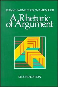 A Rhetoric of Argument by Jeanne Fahnestock (1990-01-01)