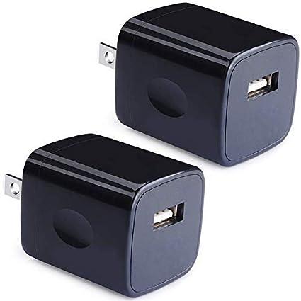 Amazon.com: Cargador de pared USB, adaptador de cargador de ...