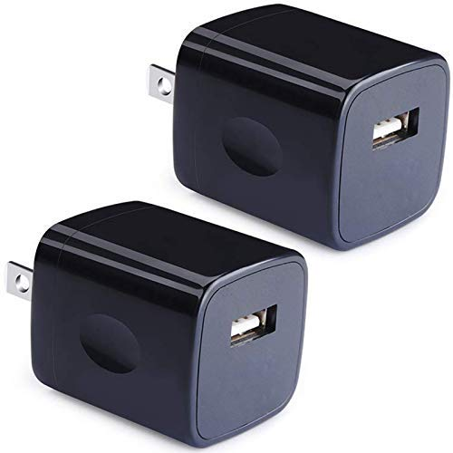 (USB Wall Charger, Power Adapter, VectorTech (2-Pack) 5V/1Amp Single Port Quick Charger Plug Cube for iPhone X 7/6S/6S Plus/6 Plus/6/5S/5, Samsung Galaxy S7/S6/S5 Edge, LG, HTC, Huawei, Moto, Kindle)