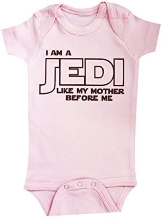 I Am A Jedi Like My Mother Star Wars Unisex-Baby Baby Bodysuit