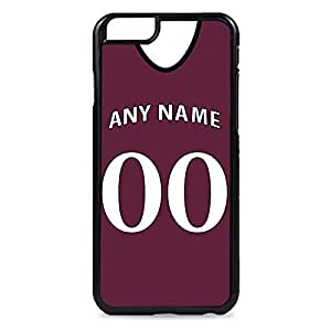Case Fun Case Fun Personalised West Ham United Football Shirt, Any Name, Any Number Snap-on Hard Back Case Cover for Apple iPhone 6 4.7 inch