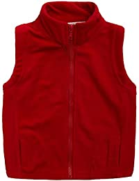 Little Boys' Fleece Warmth Sleeveless Vests Outfit Zipper Pocket 2-9T