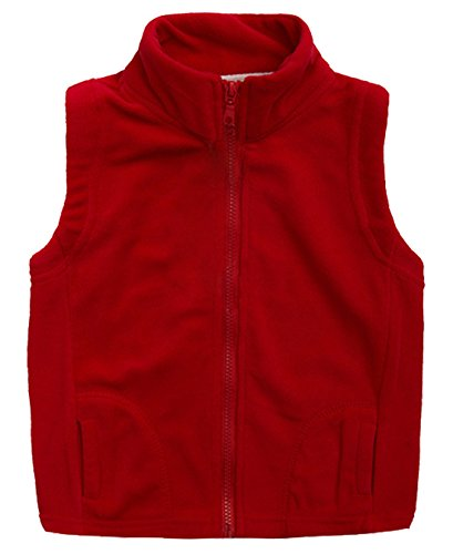 Aivtalk Little Boys Fleece Vest Zipper Up Slant