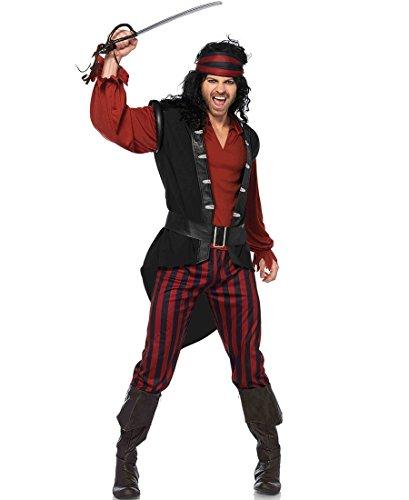 Leg A (Mens Burgundy Pirate Costumes)