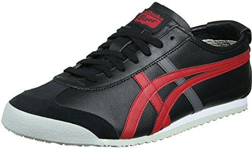 Asics Mexico 66 Sneakers, Scarpe da Ginnastica Basse Unisex-Adulto Multicolore (Black/True Red)