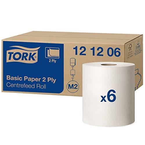 Tork Basic Centerfeed Poetspapier Wit M2, Multifunctioneel papier, 6 x 160 m, 121206
