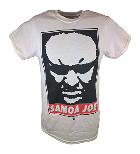 Samoa Joe Submission Machine WWE Mens White T-shirt-5XL by WWE