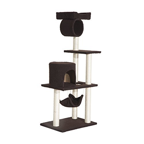 Pawhut Four Tier Scratching Post Tree