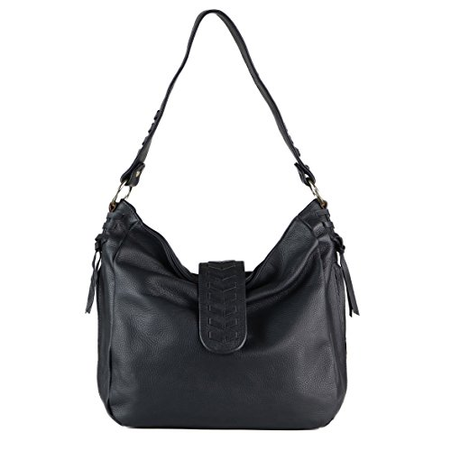 Concealed Carry Purse - The Lee V Braided Hobo by Miss Conceal (Black) by Miss Conceal