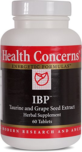 Health Concerns - IBP - Taurine and Grape Seed Extract Herbal Supplement - Supports Cardiovascular Health - 60 Tablets - Cardio Edge