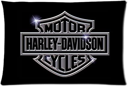 Chetery Harley Davidson Logo Printed Best Gifts Decorate Pillowcase Custom Pillowcase Soft Pillow Case Zippered Pillow Case Cover In Roomy Size 20 30 Inches Two Side Fashion Design Amazon Ca Sports Outdoors