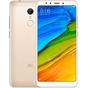 "Xiaomi Redmi 5 (32GB, 4GB RAM) 5.7"" Full View Display, 4G LTE, Fingerprint, Dual Sim International Unlocked, No Warranty MDG1 (Gold)"