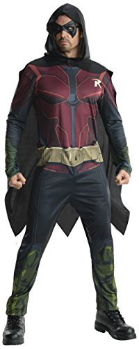 Rubie's Costume Men's Batman Arkham City Adult Robin, Multicolor, Medium