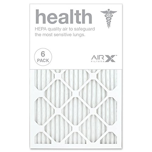 (AIRx HEALTH 16x25x1 MERV 13 Pleated Air Filter - Made in the USA - Box of 6)