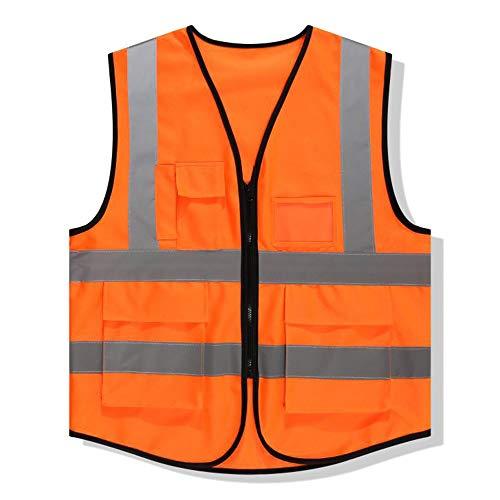 Catarifrangente Protettivo Strisce Bozevon Giubbotto Esperto Outdoor Riflettenti Executive Da Gilet Running Visibility Hi Abbigliamento Night Arancione Con Lavoro ZpZOw5Cxq