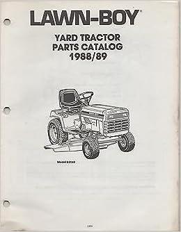 1988-1989 LAWN-BOY YARD TRACTOR MODEL 52140 PARTS MANUAL ... on small engine diagram, briggs and stratton diagram, echo diagram,