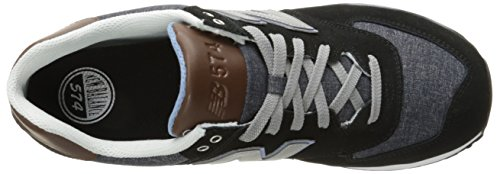 Nuovo Equilibrio Herren Wl574 Sneakers, Blu, 46.5 Eu Schwarz (nero / Marrone / Bianco)