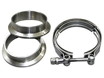 2.0 cm V-Band abrazadera + 2 bridas de acero inoxidable CNC ...
