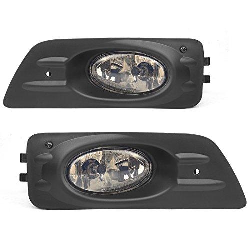 AUTOSAVER88 Fog Lights H11 12V 55W Halogen Lamp For Honda Accord Sedan 4 Door 2006 2007 with Bulbs & Wiring Harness Real Glass Smoke Lens