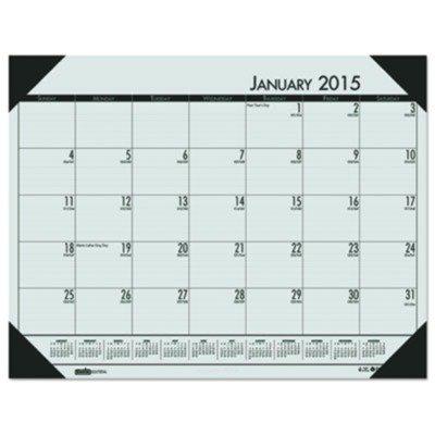 House of Doolittle EcoTONES Monthly Desk Pad Calendar, 4-Corner Holder, January-December, 2013, 22