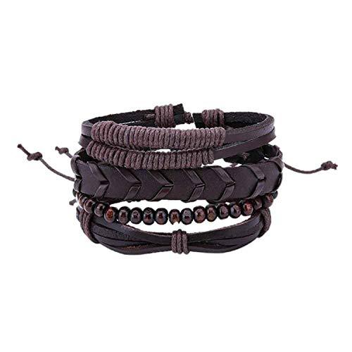 Ink White Bracelets & Bangles Mens Leather Bracelets Jewelry Charm,11