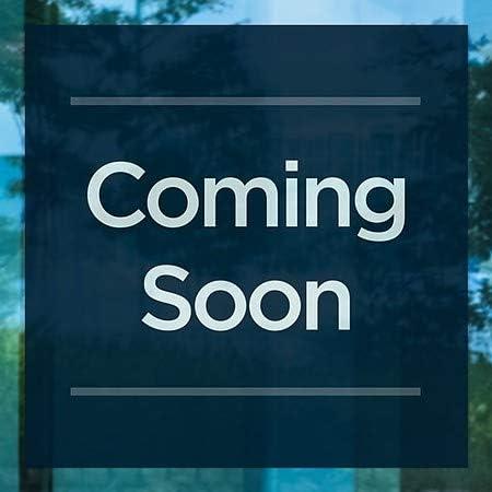 Basic Navy Window Cling 12x12 5-Pack CGSignLab Coming Soon