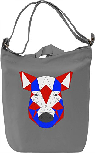 Origami Hog Face Borsa Giornaliera Canvas Canvas Day Bag| 100% Premium Cotton Canvas| DTG Printing|
