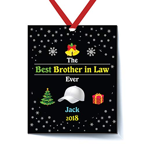 Brother Personalized Ornament Big (Best Brother in Law Ever Personalized Christmas Ornament - Brother in Law Christmas Ornament 2018 - Best Brother in Law Ever - Personalized Brother in Law Christmas Ornament 2018 - Brother in Law)