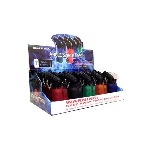 EAGLE TORCH 45 ANGLE SINGLE FLAME TORCH PT116A ASSORTED COLORS 3'' PACK OF 20