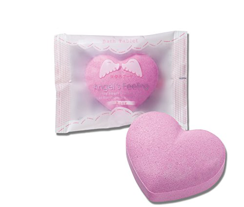 - Bath Bombs 8 Piece Gift Set | Heart Shaped 4 Scents| 8 Individually Packed Bath Bombs 1.5oz (40g) | Made in Japan