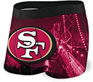 CSZXX San Francisco 49ers Men's Underwear Boxer Briefs Microfiber Stretch Multifunctional Under