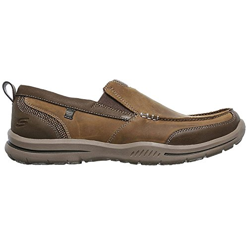 Skechers Mens Relaxed Fit Elected Brano Loafer Desert ygzOawWP