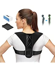 ATMOKO Posture Corrector Spinal Support , Adjustable Back Shoulder Neck Brace Posture Corrector for Men, Women, Teenager, Prevent from Myopia, Physical Therapy for Pain Relief, Support