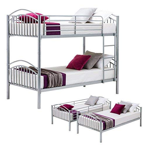 Mecor Metal Bunk Bed Twin Over Twin - Removable Two Single B