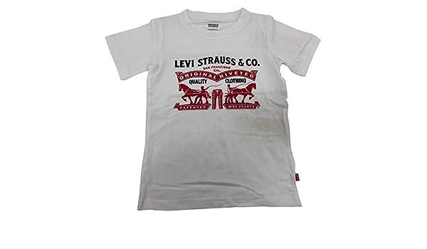 Levis 9EA074 Camiseta Blanca Junior: Amazon.es: Ropa y accesorios