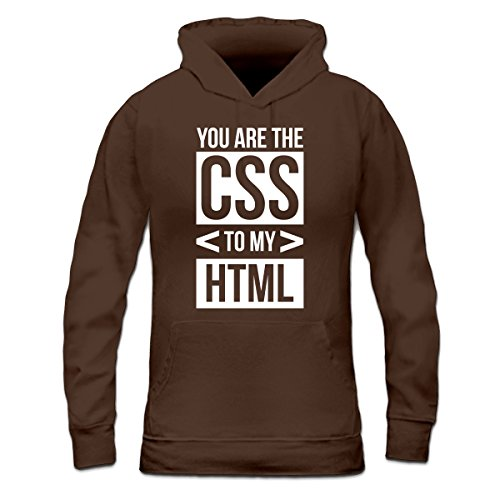 Sudadera con capucha de mujer You Are The CSS To My HTML by Shirtcity Marrón