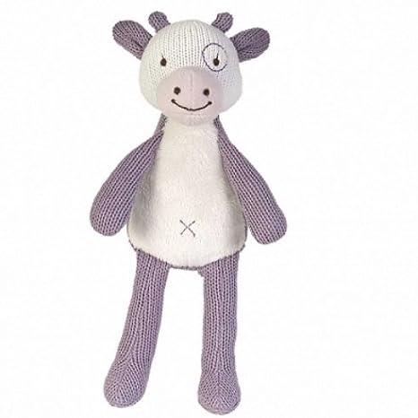 Happy Horse - Peluches et Doudous - Doudou Vache - Violet et blanc - 55 %