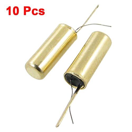 Uxcell 10 Pcs 12V 10M Ohm Mini Vibration Switch Sensor Gold Tone SW-58020